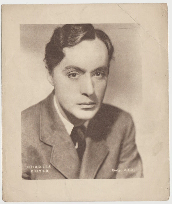 Charles Boyer 1930s DC Thomson Large Paper Stock Trading Card or Photo