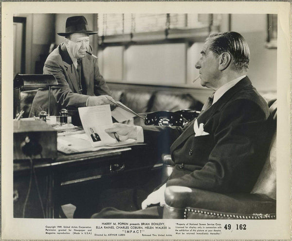 Charles Coburn + Robert Warwick 1949 8x10 Still Photo IMPACT  HMP2-41