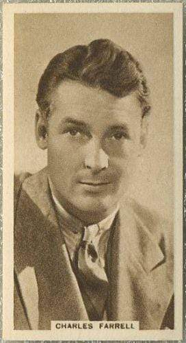 Charles Farrell 1933 United Kingdom Co Cinema Stars Tobacco Card #30