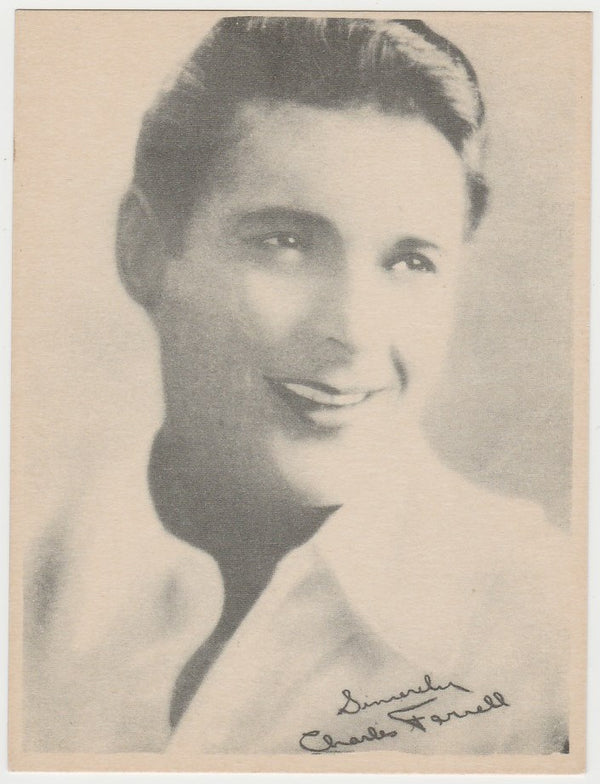 Charles Farrell 1920s Kashin Motion Picture Stars Large Trading Card W618