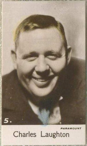 Charles Laughton 1935 Bridgewater Film Stars Small Trading Card - Series 4 #5