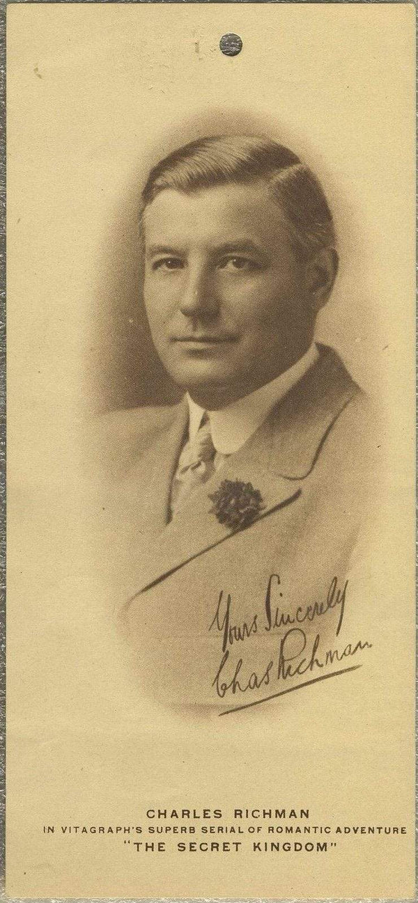 Charles Richman 1916 Paper Premium Photo for THE SECRET KINGDOM - 3.75 X 8.25