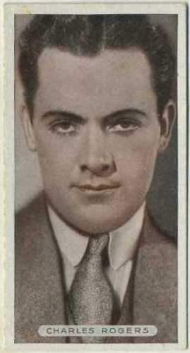 Charles Rogers 1934 Ardath Famous Film Stars Tobacco Card #36
