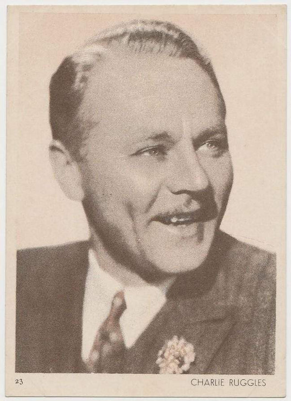 Charlie Ruggles 1930s Aguila Large Paper Stock Trading Card #23