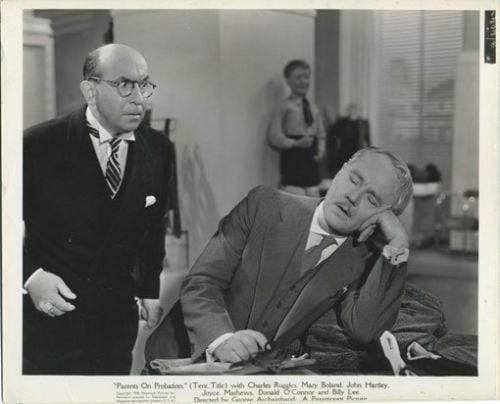 Charlie Ruggles 1938 8x10 Movie Still Photo for Parents on Probation 1202/8