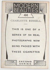 Charlotte Russell 1930s BAT Modern Beauties MD Trading Card Series 2 #44