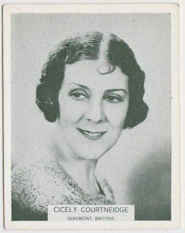 Cicely Courtneidge 1934 ARDATH British Born Film Stars Tobacco Card #28 LARGE