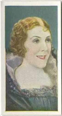 Cicely Courtneidge 1934 Godfrey Phillips Film Favourites Tobacco Card #35 NM
