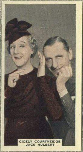 Cicely Courtneidge + Jack Hulbert 1939 A & M Wix Film Favourites Tobacco Card #100