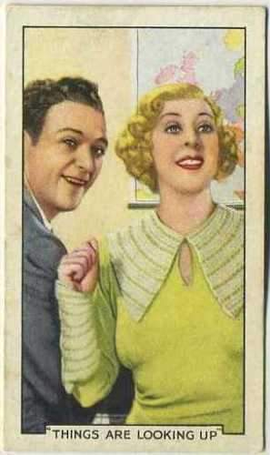 Cicely Courtneidge + William Gargan 1935 Gallaher Movie Star Tobacco Card #42