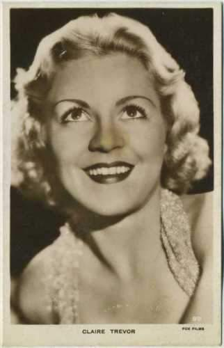 Claire Trevor 1930s Real Photo Postcard - RPPC Fox Film Star