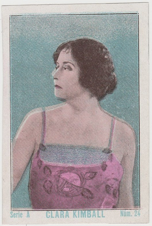 Clara Kimball Young 1920s Guillen PAPER STOCK Trading Card #A-24
