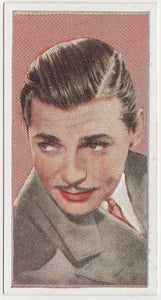 Captain Clark Gable 1947 Engrav-o-tints Peerless Weight Machine Card