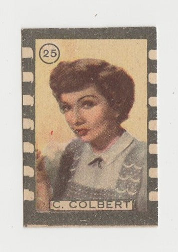 Claudette Colbert 1940s Film Frame Design Small Trading Card #25