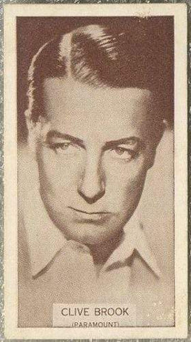 Clive Brook 1934 Wills Famous Film Stars Tobacco Card #89 - Standard Size