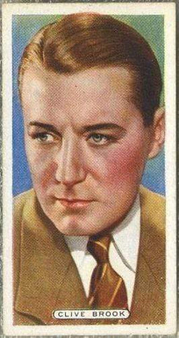 Clive Brook 1935 Ardath Film Stage and Radio Stars Tobacco Card #5