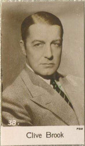 Clive Brook 1935 Bridgewater Film Stars Small Trading Card - Series 4 #38