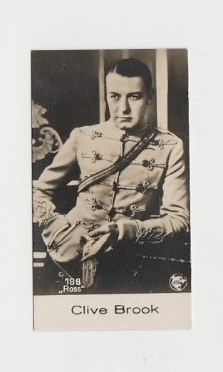 Clive Brook 1930 De Beukelaer Film Stars Small Trading Card #188