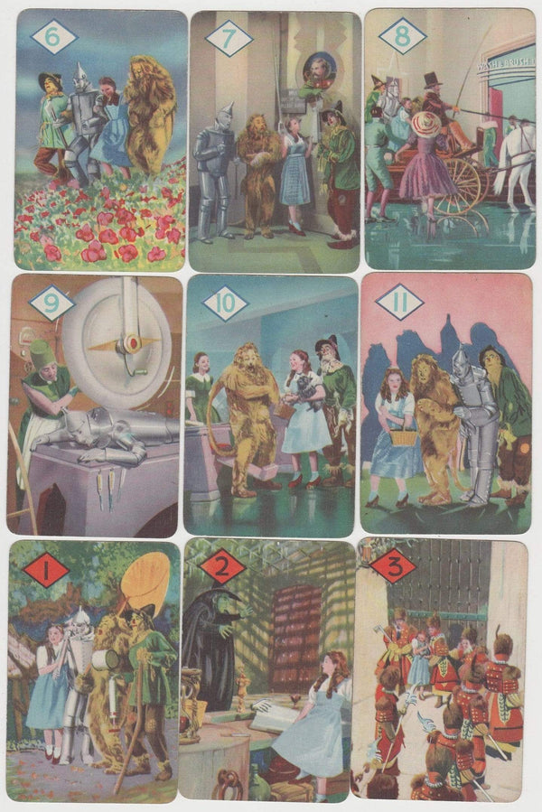 Complete 1940 THE WIZARD OF OZ Card Game Set CASTELL BROTHERS All 44 Cards Shown