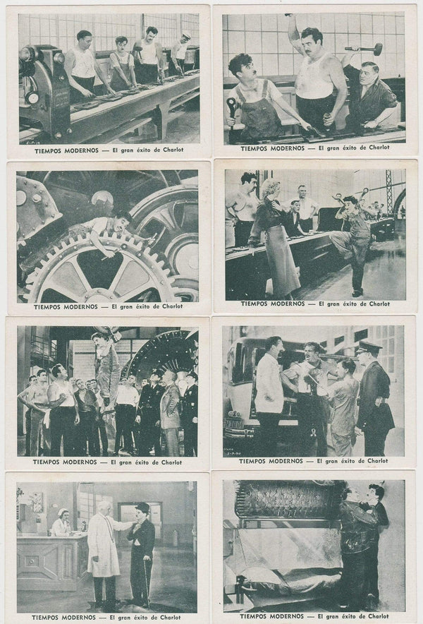 Complete Set of 40 1930s Paper Stock Trading Cards MODERN TIMES Charlie Chaplin