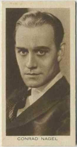 Conrad Nagel 1931 BAT CINEMA ARTISTES Tobacco Card #20 Rare Movie Card