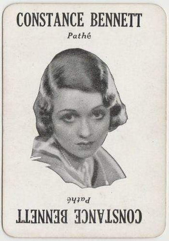CONSTANCE BENNETT Vintage 1929 Wilder MOVIE-LAND KEENO Game Card