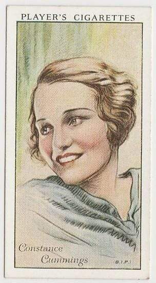 Constance Cummings 1934 John Player Film Stars Tobacco Card 1st Series #13