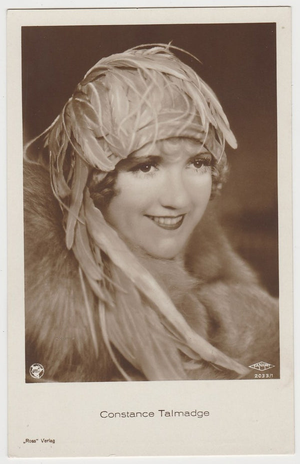 Constance Talmadge 1930s Jasmatzi Hansom German Tobacco Card #124