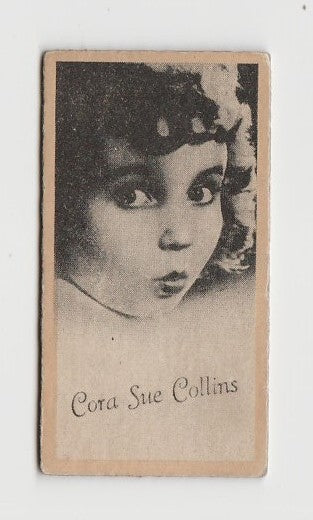 Cora Sue Collins 1937 Peerless Cloudy Weight Machine Trading Card