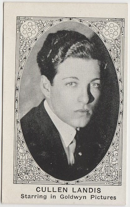 CULLEN LANDIS 1921 American Caramel TRADING CARD No# Blank Back