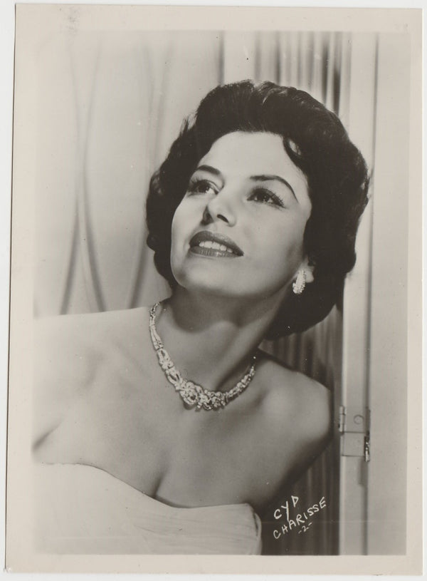 Cyd Charisse 1950 KWATTA Film Stars LARGE 5x7 Trading Card - White Type