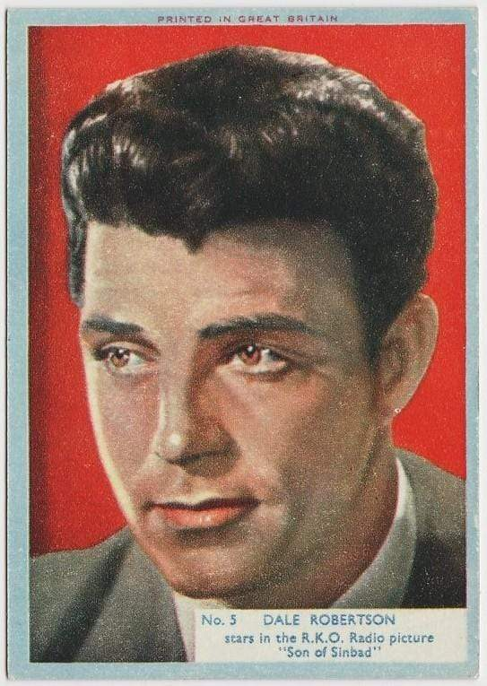 Dale Robertson 1956 A&BC Film Stars Trading Card #5