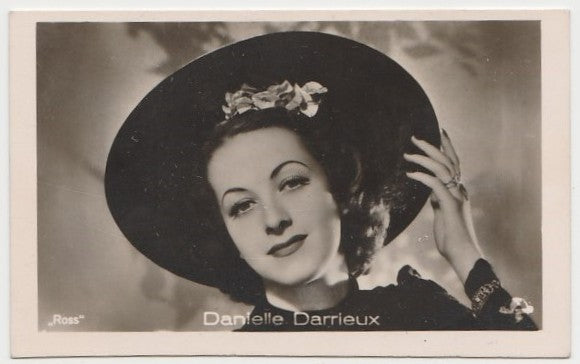 Danielle Darrieux 1930s Vintage ROSS Film Stars Real Photo Trading Card #2
