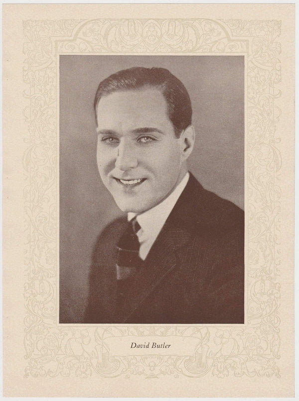 David Butler 1923 MPDA Popular Film Folk 8 X 10.75 Printed Photo of Film Star