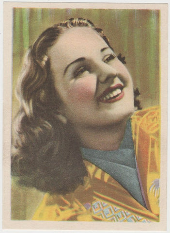 Deanna Durbin 1930s Vintage ROSS Film Stars Real Photo Trading Card #1
