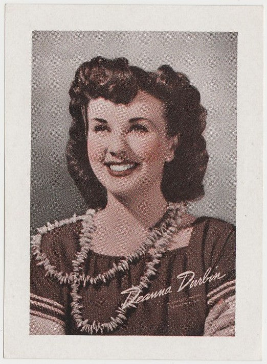 Deanna Durbin 1940s Vintage WW2 Era Paper Stock Trading Card or Picture