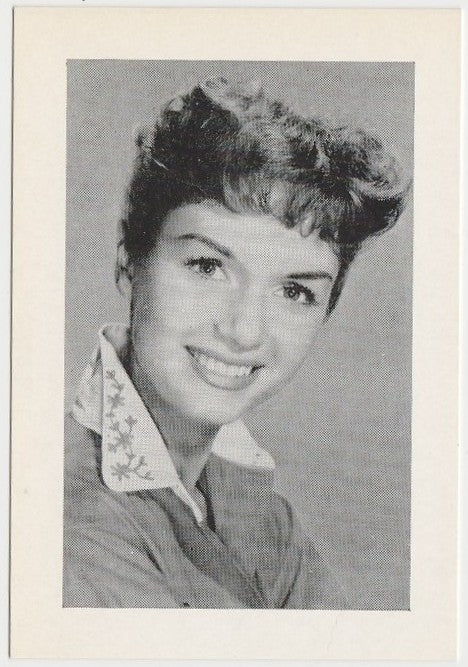 Debbie Reynolds Late 1950s Vintage Film Star Trading Card