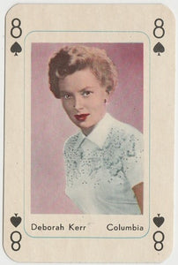 Deborah Kerr Vintage 1950s Maple Leaf Playing Card of Film Star