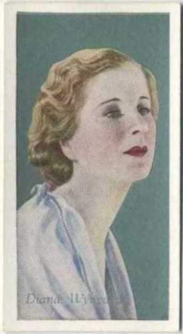 Diana Wynyard 1934 Godfrey Phillips Film Favourites Tobacco Card #19 NM