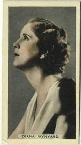 Diana Wynyard 1934 Godfrey Phillips Stage and Cinema Beauties Tobacco Card #22