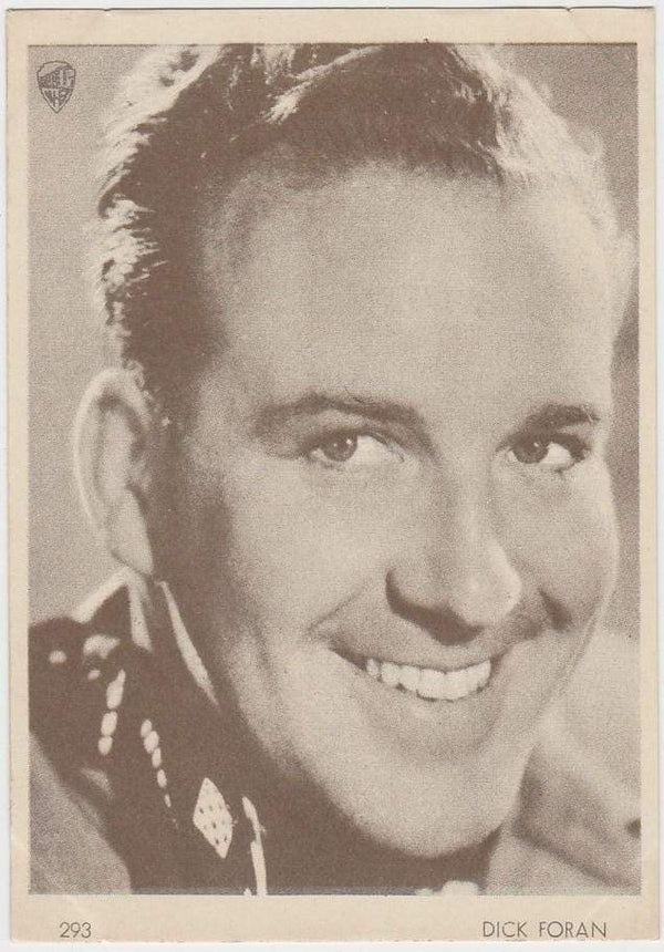 Dick Foran 1930s Aguila Large Paper Stock Trading Card #293