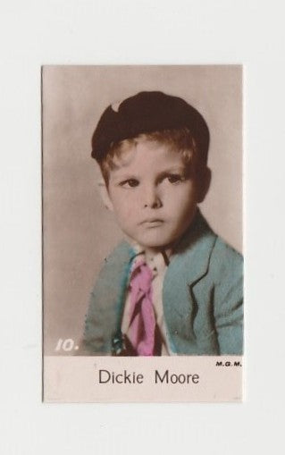 Dickie Moore 1935 Bridgewater Film Stars Small Trading Card - Series 4 #10