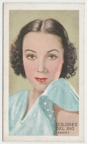 Dolores Del Rio 1934 Gallaher Champions of Screen and Stage Tobacco Card #9