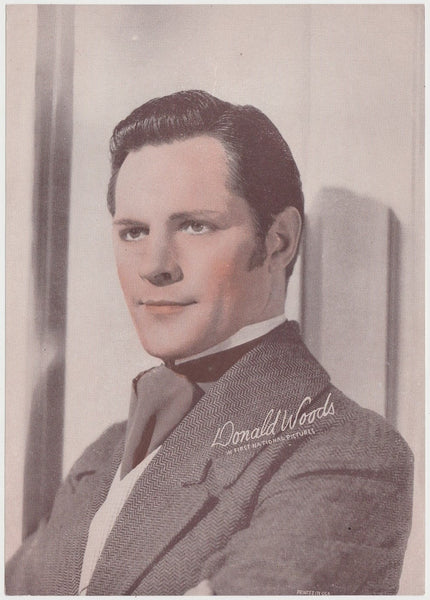 Donald Woods 1930s Aguila Large Paper Stock Trading Card #64