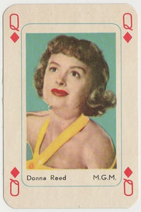 Donna Reed Vintage 1950s Maple Leaf Playing Card of Film Star