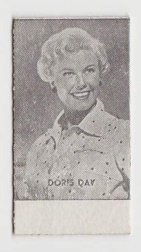 Doris Day Early 1950s Film Star Weight Machine Card from Spain