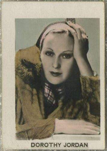 Dorothy Jordan 1932 Orami Film Photos Series D Tobacco Card #398