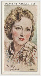Dorothy Jordan 1934 John Player Film Stars Tobacco Card 1st Series #28