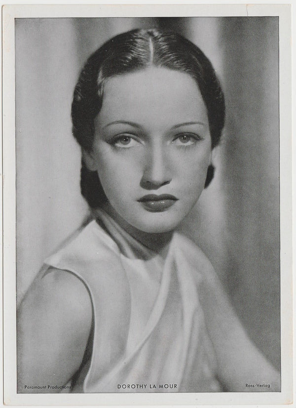Dorothy Lamour 1940s Film Frame Design Small Trading Card #4