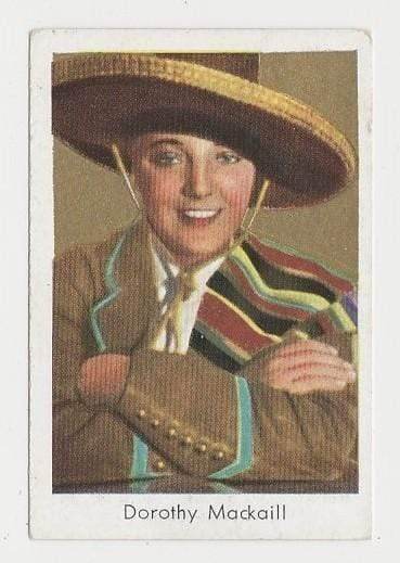Dorothy Mackaill 1934 Salem Goldfilm Movie Star Tobacco Card #141